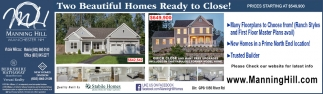 Two Beautiful Homes Ready To Close!